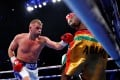 Billy Joe Saunders defeats Zoltan Sera in 2018. Photo: Reuters