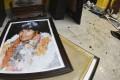 A broken portrait of former Bolivia's President Evo Morales, who resigned on Sunday. Photo: AP