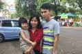 Ae Ae Phyo Aung with her daughter, Thada, and her husband, Kyaw Ye Naing. Photo: Team Ceritalah