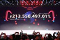 The total figure spent is displayed on the big screen in Shanghai during the 11.11 Global Shopping Festival in 2018, when a new record was set – and is likely to be broken in 2019. Photo: Simon Song