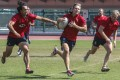 Salom Yiu Kam-shing, Tom McQueen and Jamie Hood training at the Sports Institute for the Olympic qualifying tournament in Incheon, South Korea. Photo: K.Y. Cheng