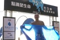 Former Olympic swimmer and Canto-pop star Alex Fong says his 45km swim for charity around Hong Kong Island was no solo effort and he couldn't have done it without his support team and family and friends. Photo: Nora Tam