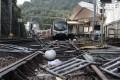 The rail track is blocked at Chinese University station. Photo: Sam Tsang