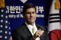 US Defence Secretary Mark Esper is on a tour of the Asia-Pacific region. Photo: Reuters