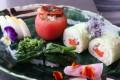 Vegetarian sushi at Sushi Tsubomi, in Causeway Bay, Hong Kong. Picture: Jonathan Wong