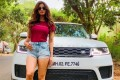 Bollywood actress Disha Patani poses with a Range Rover SUV. Photo: Instagram
