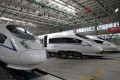 High-Speed trains are pictured during a tour of CRRC Tangshan facility, the cradle of locomotive and rolling stock industry. Photo: Simon Song