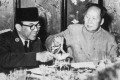Indonesian leader Sukarno with China's Mao Zedong in 1956. File photo