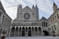 The Cathedral of Notre-Dame in Tournai, Belgium, one of 13 Unesco World Heritage Sites that Paul Niel and his wife, Esther Röling, visited on their way to setting a new Guinness World Record. Photo: Paul and Esther Niel
