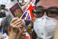 Hundreds of protesters march to the British consulate in Hong Kong in September, urging the British government to grant full citizenship to British National (Overseas) passport holders. Conservative members of the House of Lords have supported the move in a letter to Prime Minister Boris Johnson. Photo: Nora Tam