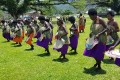 Ahead of Bougainville's landmark independence vote, women dance at a November 6 reconciliation ceremony that brought together former enemies in a decade-long civil war. Photo: AFP