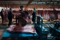 A scene from a pork wholesale market in Beijing on November 18, 2019. Photo: EPA-EFE