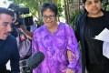Australian Maria Elvira Pinto Exposto leaving the federal court in Putrajaya, Malaysia. Photo: EPA