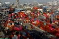 Shipping containers at the Port of Los Angeles in January. Photo: Reuters