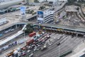 Motorists and public transport users were finally able to use the Cross-Harbour Tunnel again following a two-week shutdown. Photo: AFP