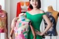 Chinese fashion designer Christine Lau, founder of Chictopia, creates party dresses for confident young women.