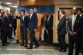 Barack Obama and Japan's Shinzo Abe after a private dinner at Sukiyabashi Jiro in Tokyo. Photo: Jim Watson/AFP