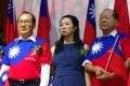 Lee Chia-fen (centre) at a campaign event in Thailand last Tuesday. Photo: CNA