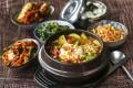 Susan Jung's recipe for vegetarian doenjang chigae, or Korean beanpaste stew. Photography: Jonathan Wong. Styling: Nellie Ming Lee