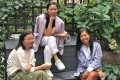 """Bifen Xu, Wen Zhou and Dora Fung, founders of i-see, a platform for Asian-American women. """"For years ... we have been saying ... 'Where can we go and hear about stories about the people who look like us', says Zhou. Photo: Esteban Gomez"""