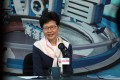 """Chief Executive Carrie Lam attends a radio programme called """"Accountability"""" at RTHK on October 19. Photo: Xiaomei Chen"""