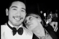 Godfrey Gao and Jamie Campbell Bower, who shared this photo on social media after learning of the death of his The Mortal Instruments: City of Bones co-star. Photo: Twitter