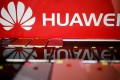 A Huawei logo seen at a mobile phone shop in Singapore. Photo: Reuters