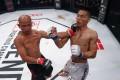 Liu Lianjie lands a punch on Yuan Chunbo. Photos: Legend FC