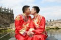 LGBT couple Hu Mingliang (left) and Sun Wenlin were the first to test China's marriage laws in 2015. Photo: Handout
