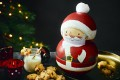The Santa Wobbler biscuit tin is filled with star-shaped chocolate cookies. Photos: Handouts