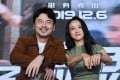 Tang Wei (right) and Lei Jiayin, stars of the movie The Whistleblower, at a press conference during the 28th China Golden Rooster and Hundred Flowers Film Festival in Xiamen, Fujian Province, China, on November 20. The movie is expected to be released on December 6. Photo: Xinhua/Jiang Kehong