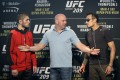 The trash-talking between Tony Ferguson and Khabib Nurmagomedov is set to get underway, months ahead of their ill-fated fight. Photo: AP