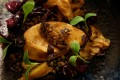 """A dish with """"naturally fatty"""" foie gras, made from geese fed with bacteria to stimulate the fattening of the liver, seen at Solides restaurant in Toulouse, France on November 29. Photo: Reuters"""