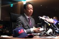 Foxconn founder Terry Gou fields questions in Taipei ahead of his latest visit to the United States. Photo: Reuters