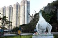 Built at a cost of HK$1.2 million in 2013, this giant statue of a goose in Sham Tseng in Tsuen Wan was criticised for resembling a duck. District councillors then requested more funds to modify it. Photo: SCMP