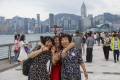 Mainland Chinese tourists at the Avenue of Stars, in Tsim Sha Tsui, Hong Kong, in May. Photo: Sam Tsang