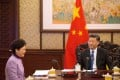 Chief Executive Carrie Lam briefs President Xi Jinping on Hong Kong affairs in Beijing in December 2018. Beijing's surprise at the district council election results indicates that Lam and other Hong Kong officials have not provided adequate intelligence. Photo: ISD