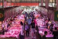 Wholesale pork prices last week fell back 0.8 per cent from the previous week, the fourth straight weekly decline, according to the latest data released by the commerce ministry on Wednesday. Photo: Bloomberg