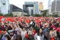 Pro-China demonstrators rally at Hong Kong's Tamar Park on December 15. Photo: May Tse