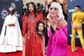From left to right: Billy Porter, Jared Leto, Lady Gaga and Bobby Lytes all in controversial outfits. Photos (from left to right): Nina Prommer/EPA-EFE; AFP; AFP