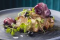 Pork loin with radicchio purée and fermented blue berries from Hue. Photos: Handouts
