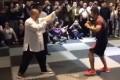 A screenshot of China MMA fighter Xu Xiaodong taking on tai chi master Wei Lei. Photo: Handout