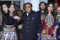 Chairman of Reliance Industries Mukesh Ambani, centre, his wife Nita Ambani, back left, daughter Isha Ambani, right, son Anant Ambani and Radhika Merchant, front left, arrive to attend the wedding of Bollywood actress Priyanka Chopra and Nick Jonas in Jodhpur, India. Photo: Sunil Verma/AP Photo