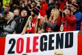 Manchester United fans display a banner in support manager Ole Gunnar Solskjaer. Photo: Reuters