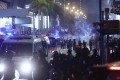 Police fire tear gas in Tsim Sha Tsui as Christmas Eve protests break out. Photo: May Tse