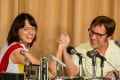 Emma Stone and Steve Carell as tennis stars Billie Jean King and Bobby Riggs in Battle of the Sexes. Image courtesy of TIFF.