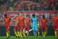 China's players react after losing to Iceland in the 2017 China Cup. Photo: Xinhua