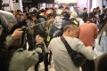 Riot police use pepper spray in the Sheung Shui mall. Photo: Winson Wong