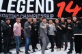 Li Jingliang poses with China Top Team at Legend FC 14 in Macau. Photos: Legend FC