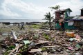 A house damaged during Typhoon Phanfone in Tacloban, Leyte province. Photo: AFP